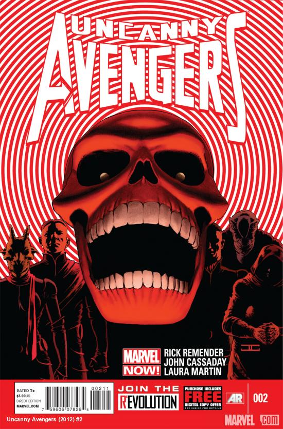 Uncanny Avengers #2 cover by John Cassaday