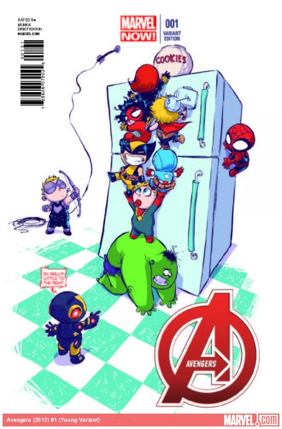 AVENGERS 1 YOUNG VARIANT (NOW, WITH DIGITAL CODE)