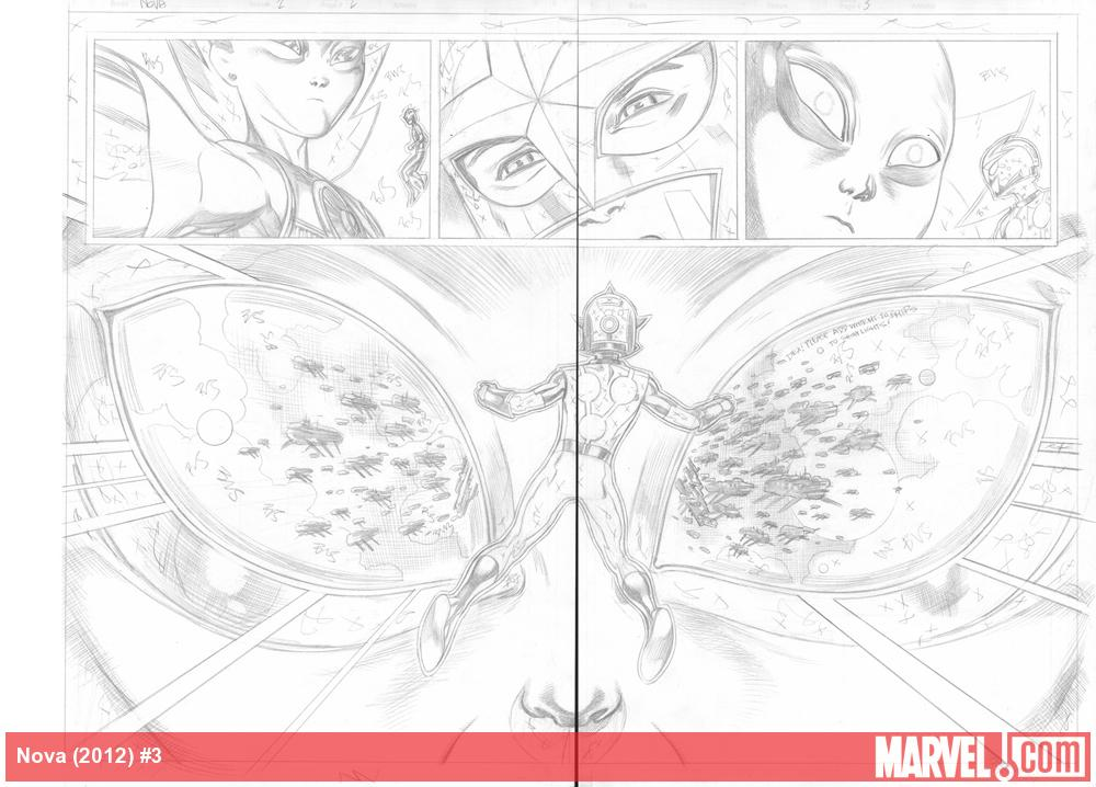 Nova (2013) #3 preview pencils by Ed McGuinness