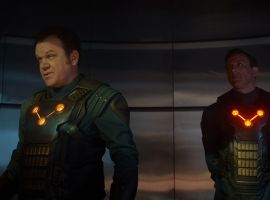 John C. Reilly and Peter Serafinowicz are members of the Nova Corps in Marvel's Guardians of the Galaxy