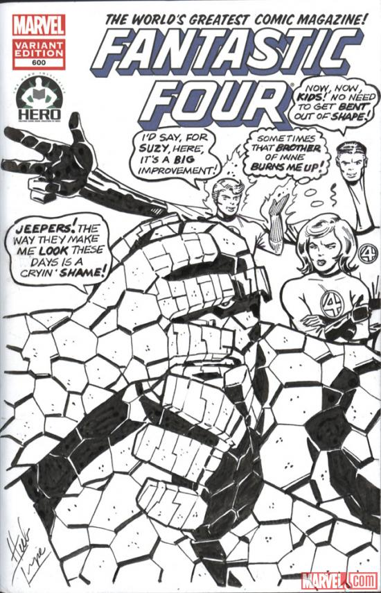 Fantastic Four #600 Hero Initiative variant cover by Herb Timpe