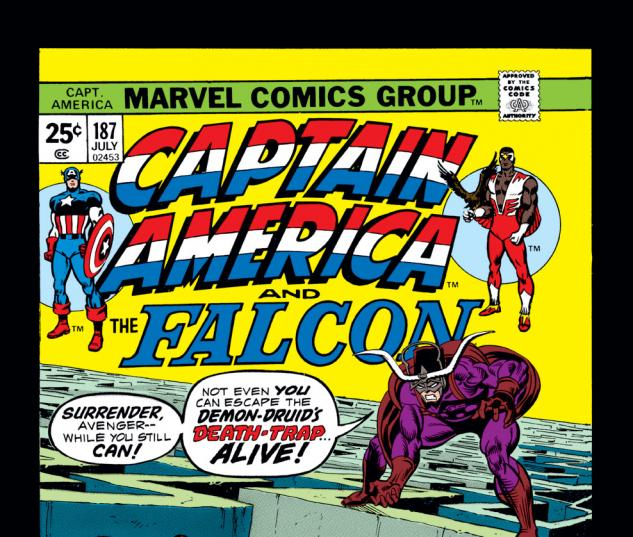 Captain America (1968) #187 Cover