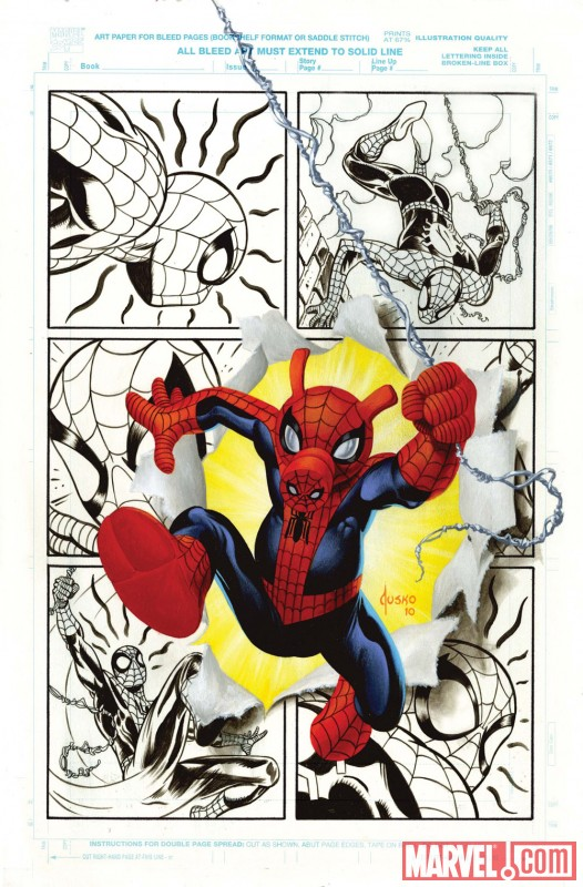 Spider-Ham Anniversary #1 cover by Joe Jusko