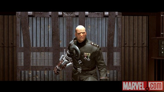 Screenshot of Baron Strucker in Captain America: Super Soldier