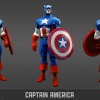 Captain America model sheet from the Marvel Universe MMO