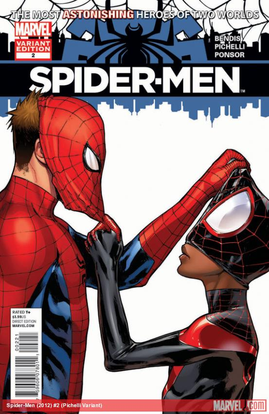Spider-Men #2 variant cover by Sara Pichelli