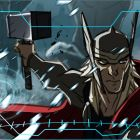 Thor gets ready for battle in a color storyboard from Marvel's Avengers Assemble