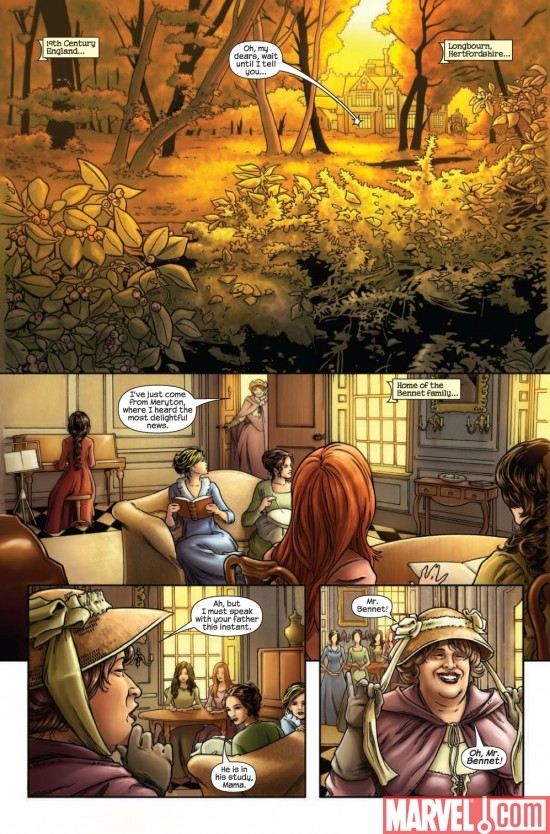 PRIDE & PREJUDICE #1 preview page 2