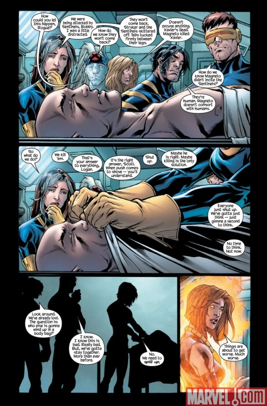 ULTIMATE X-MEN #100 preview page 6