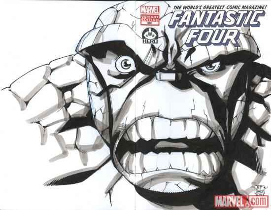 Fantastic Four #600 Hero Initiative variant cover by Ramone Bachs