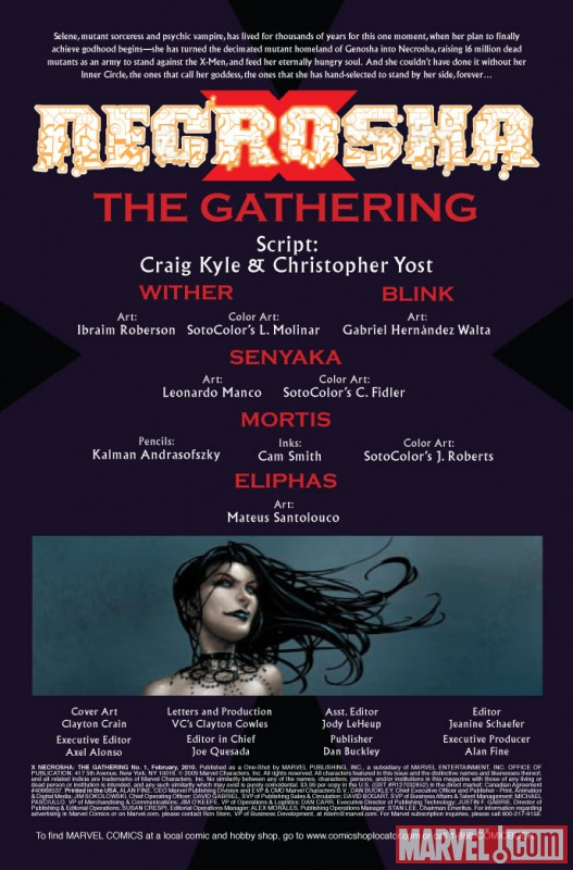 X Necrosha: The Gathering One-Shot (2009) #1