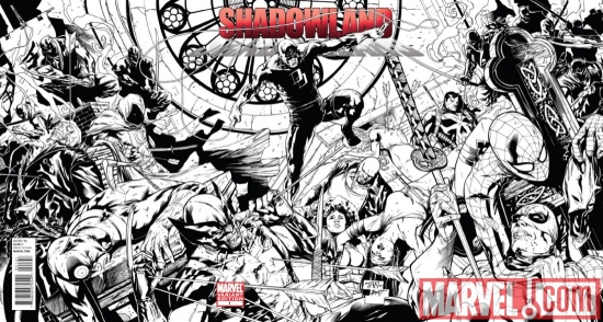 SHADOWLAND #1 inked wraparound variant cover by Billy Tan