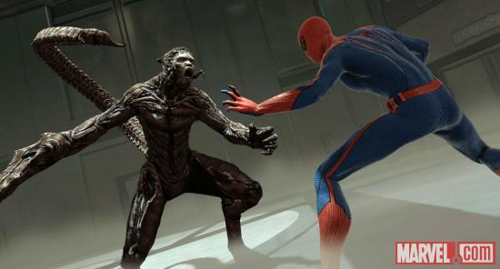 Spider-Man versus Scorpion in The Amazing Spider-Man video game