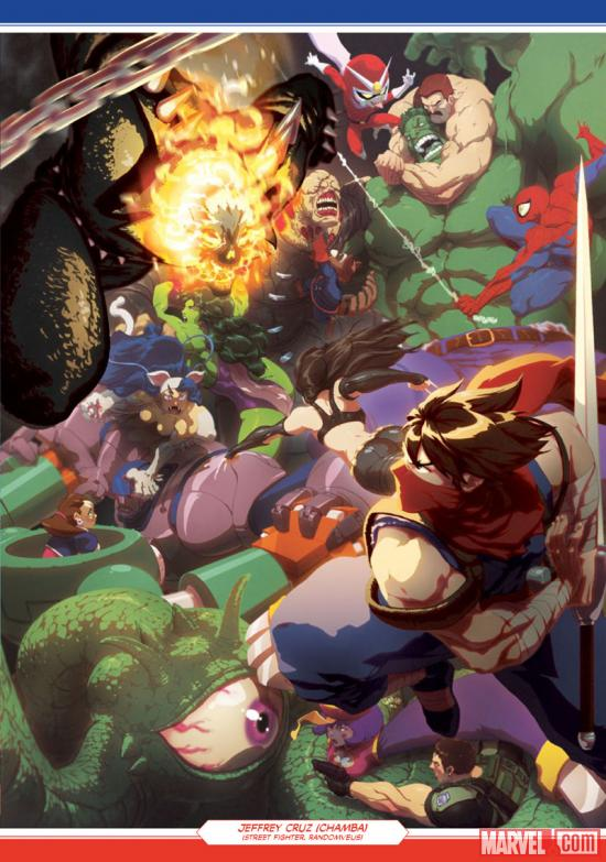 Marvel vs. Capcom: Official Complete Works tribute art by Chamba