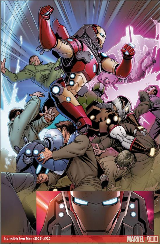 Invincible Iron Man #525 preview art by Salvador Larroca