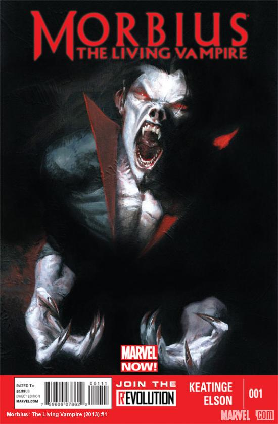 Morbius: The Living Vampire (2013) #1 cover by Gabriele Dell'Otto