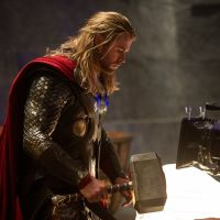 Star Chris Hemsworth (Thor) on set of Marvel's Thor: The Dark World