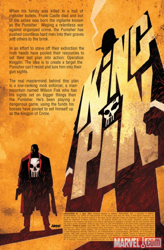 PUNISHERMAX #4 Recap Page