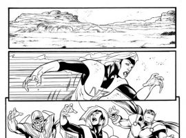 AVENGERS: THE INITIATIVE #28 black and white preview art by Rafa Sandoval