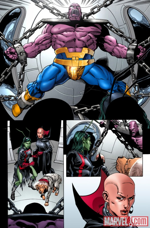 Image Featuring Moondragon, Thanos, Mantis