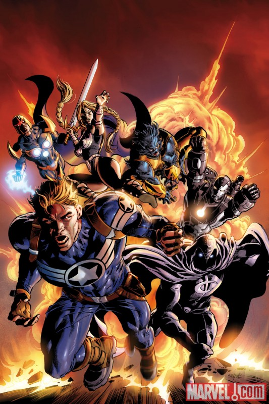 SECRET AVENGERS #2 variant cover by Mike Deodato