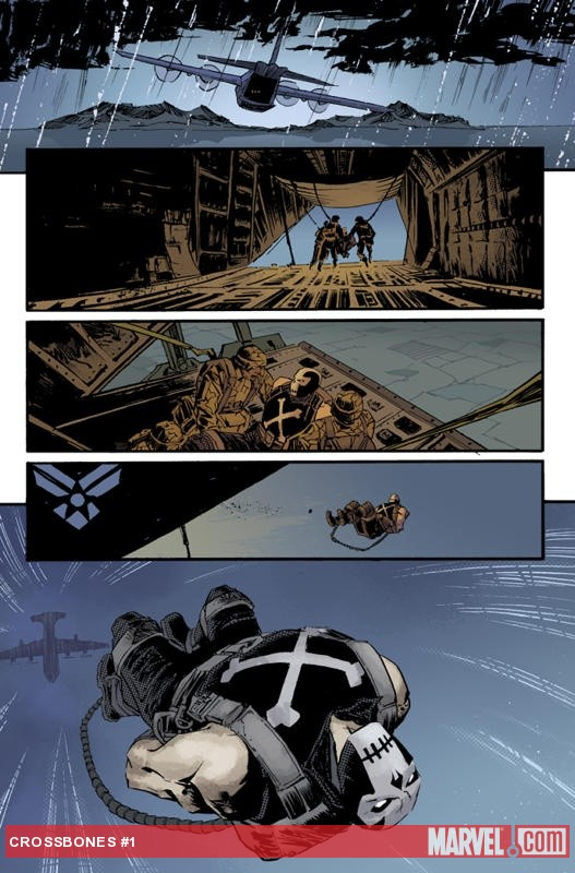 Captain America and Crossbones #1 preview art by Declan Shalvey