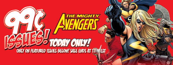 Marvel App: Get Mighty Avengers Issues for 99¢