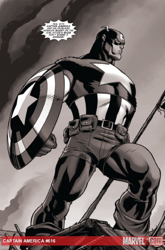 Captain America #616 preview art by Howard Chaykin & Paul Grist