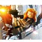 Black Widow character render from LEGO Marvel Super Heroes