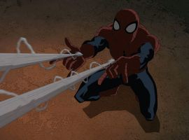 Spidey fires his web shooters in Marvel's Ultimate Spider-Man