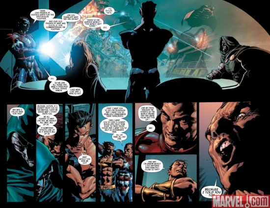 DARK AVENGERS #6, pages 3-4