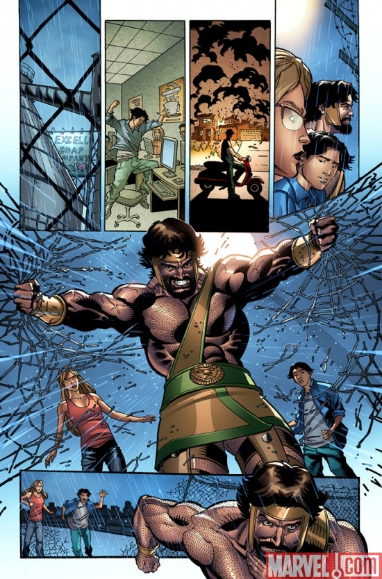 INCREDIBLE HERCULES #127 preview art by Dietrich Smith