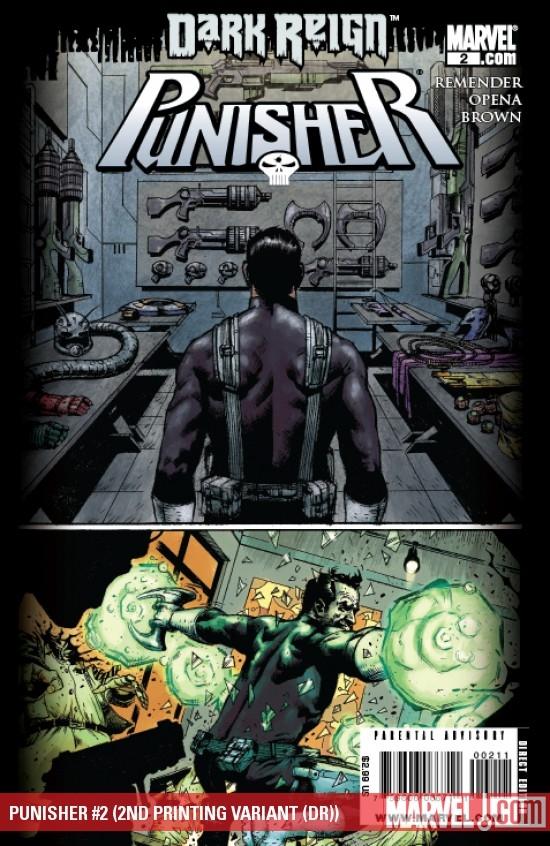 PUNISHER #2 (2ND PRINTING VARIANT (DR))