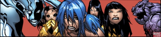a panel from New X-Men #44