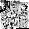 FANTASTIC FOUR #581 black and white preview art by Neil Edwards