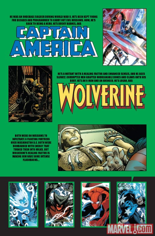 WORLD WAR HULKS: CAPTAIN AMERICA VS. WOLVERINE #2 recap page