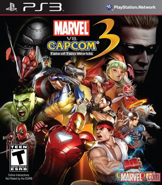 Marvel vs. Capcom 3: Fate of Two Worlds PS3 Box Art