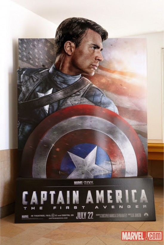 Captain America: The First Avenger in-theaters standee