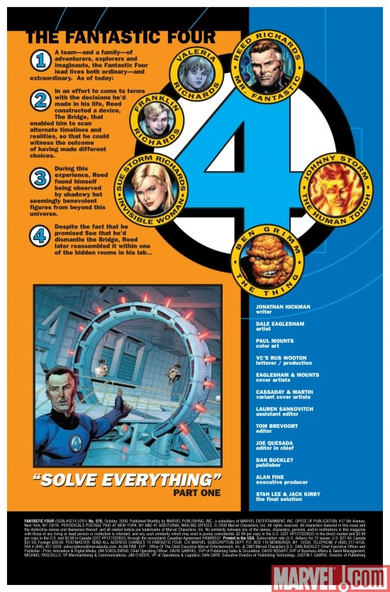 FANTASTIC FOUR #570, intro page