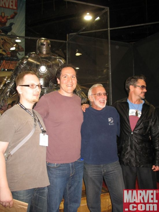 Adi Granov, Jon Favreau, Stan Winston and Robert Downey Jr.