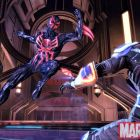 Screenshot of Spider-Man 2099 from Spider-Man: Shattered Dimensions