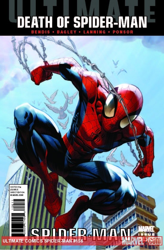 Ultimate Comics Spider-Man #156 cover by Mark Bagley