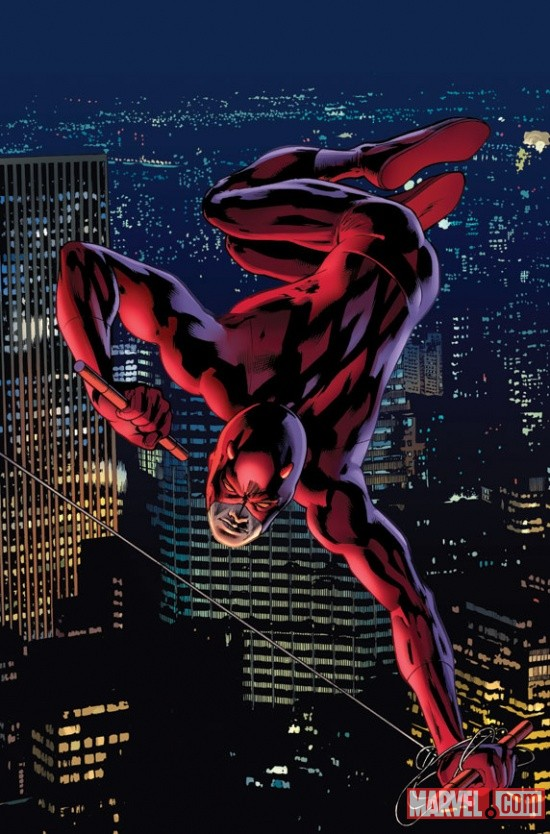 Daredevil #4 variant cover art by Bryan Hitch