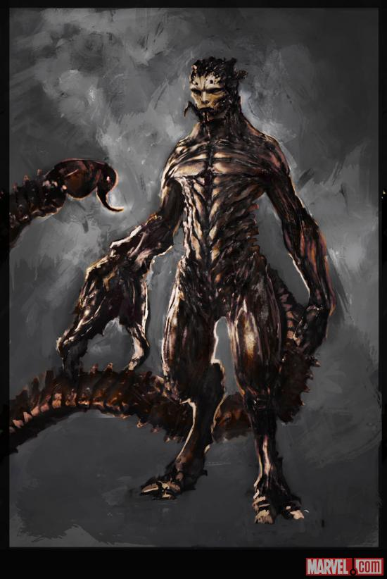 The Amazing Spider-Man Scorpion Concept Art