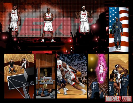 LeBron: King of the Rings preview art by Mike Deodato