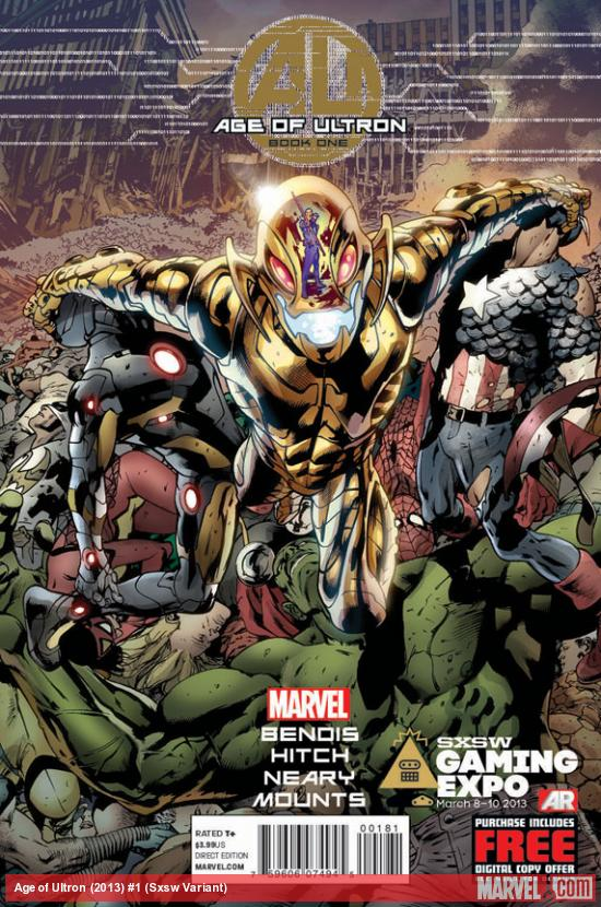 Age of Ultron SXSW Variant #1 cover by Bryan Hitch