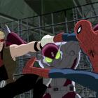 Hawkeye &amp; Spidey team-up against the Beetle Ultimate Spider-Man
