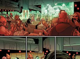 Guardians of the Galaxy #21 preview art by Valerio Schiti