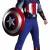 Captain America Avengers Classic Muscle Adult