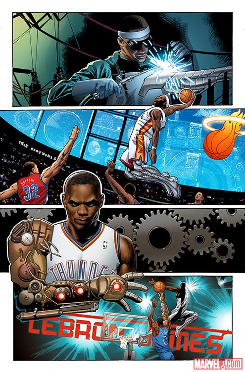 LeBron: King of the Rings preview art by Greg Land